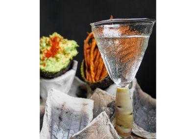 Potato stemmed glass