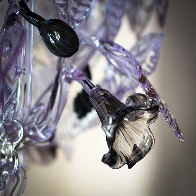 Lilac chandelier – damson detail