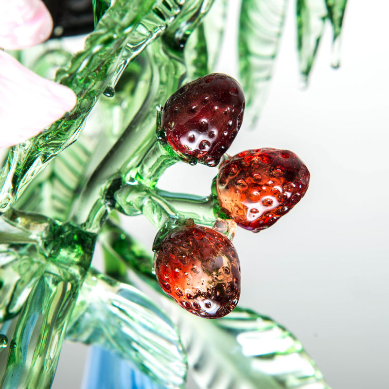 Fruit and flowers chandelier – strawberries