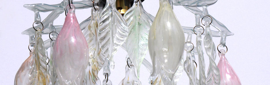 Pale ghost glass chandelier shade
