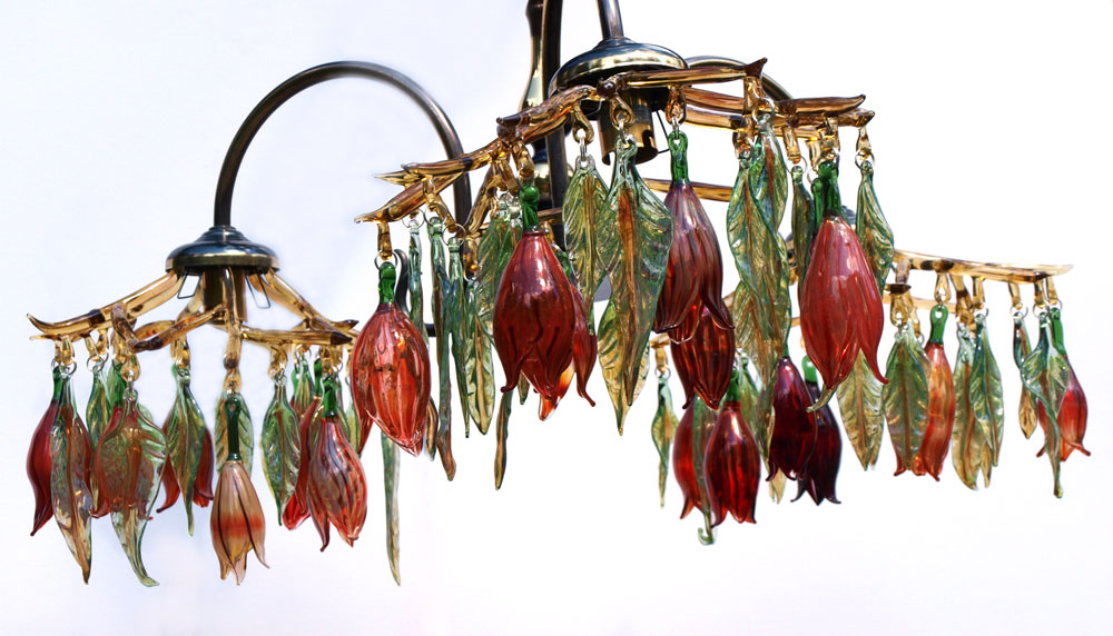 Repurposed glass chandelier with red glass flowers repurposed glass chandelier with red flowers red1000b mozeypictures Image collections
