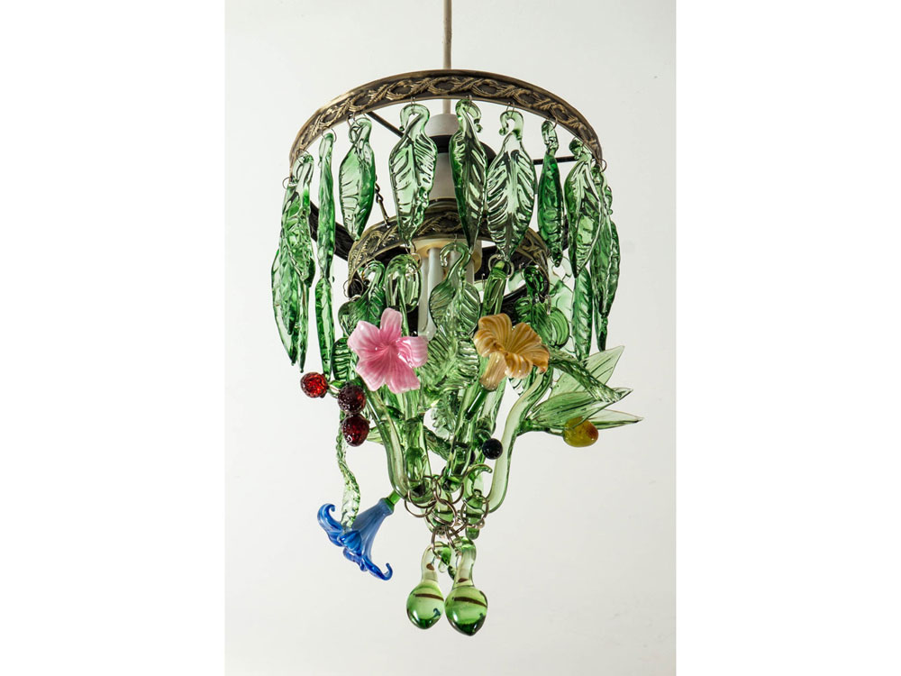 Fruit and flowers handmade glass chandelier