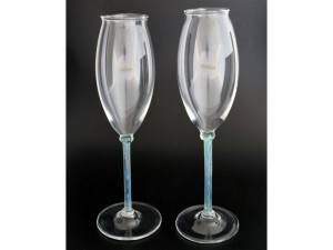 handmade champagne flute glasses