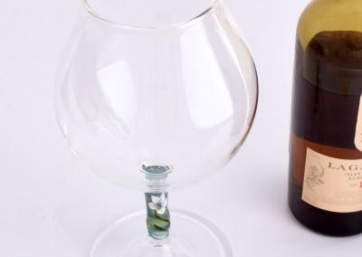 Hand blown brandy glass
