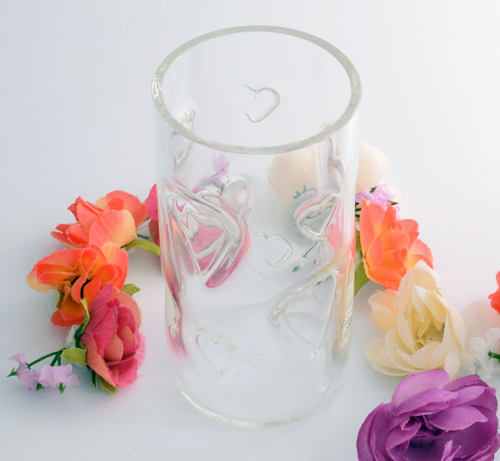 Tumbler with hearts