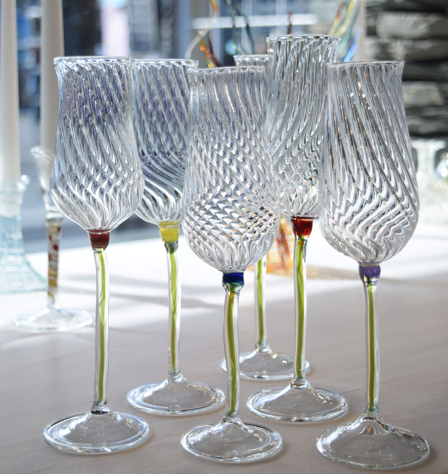 flower twist champagne glass