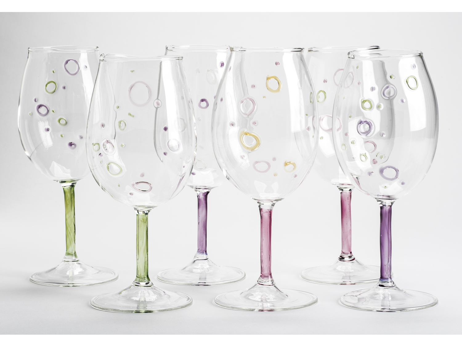 hand blown wine glasses