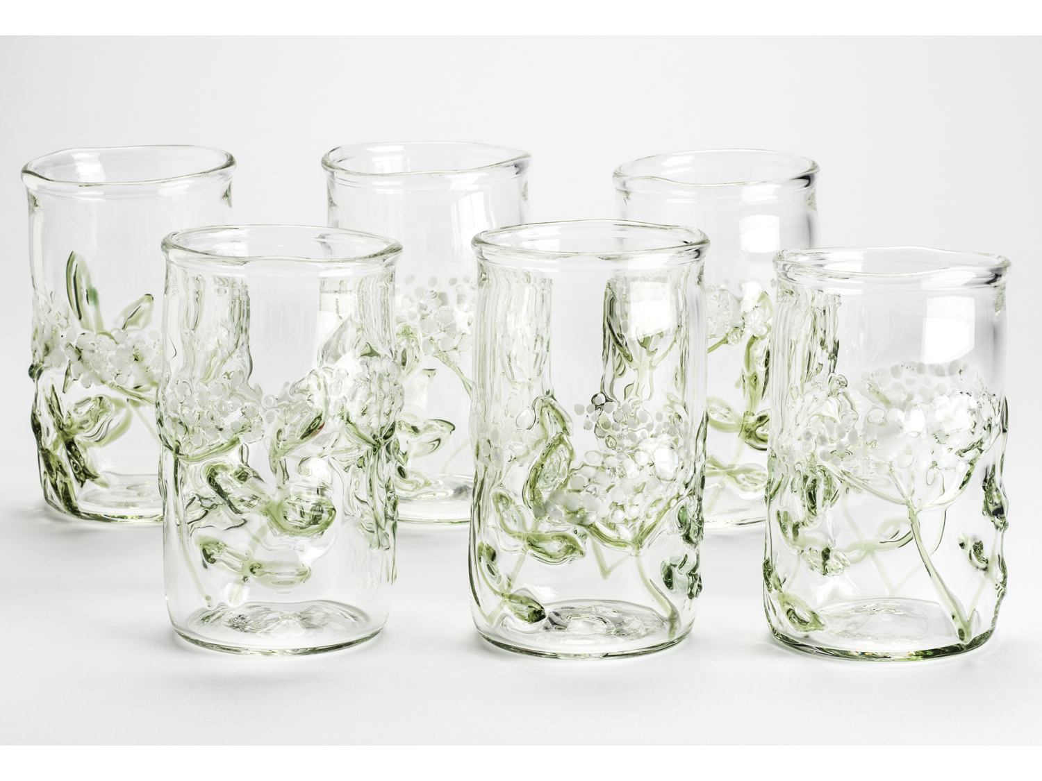 hand blown tumbler glasses