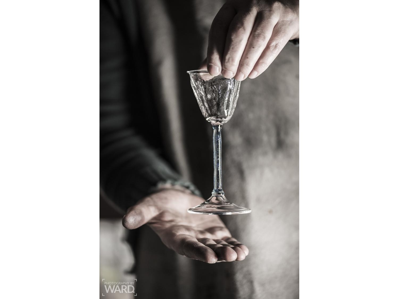 Textured damson gin glass