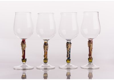 Wine glasses with special stems