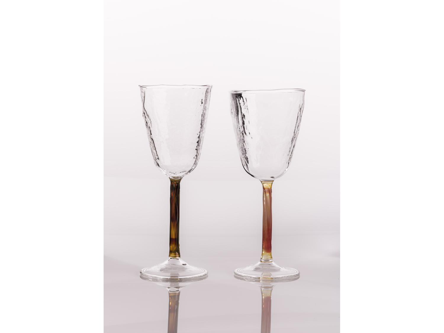 hand blown wine glass
