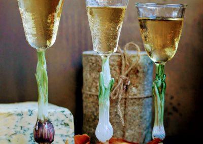Spring onion handmade glass