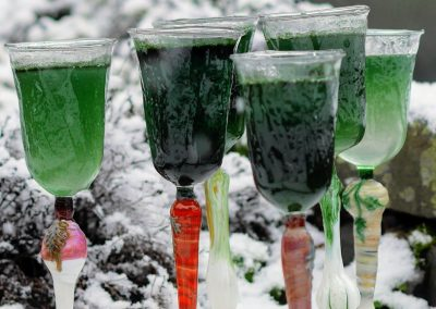 Winter roots wine glasses