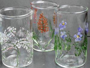 floral tumbler glasses