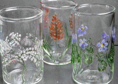 Floral tumblers