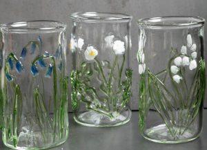 floral tumbler glasses bluebell