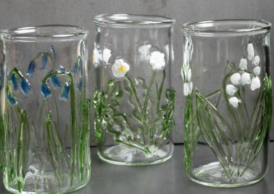 Floral tumbler glasses bluebell