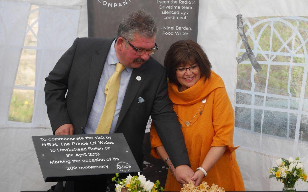 HRH Prince Charles visits Hawkshead Relish