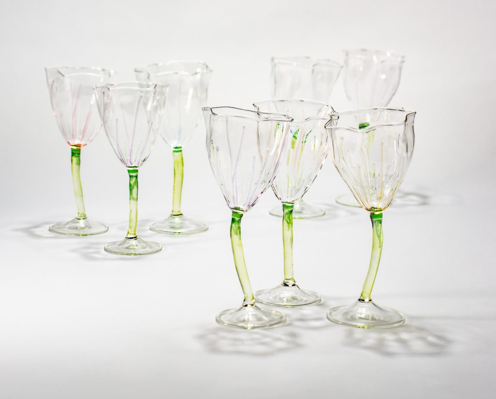 Flower wine glasses