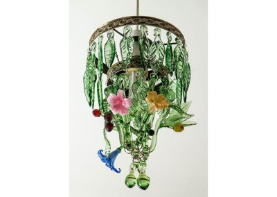 Fruit and Flowers glass chandelier