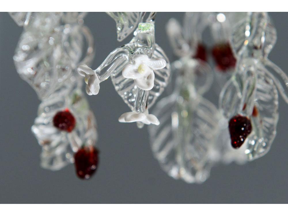 handmade glass strawberry chandelier