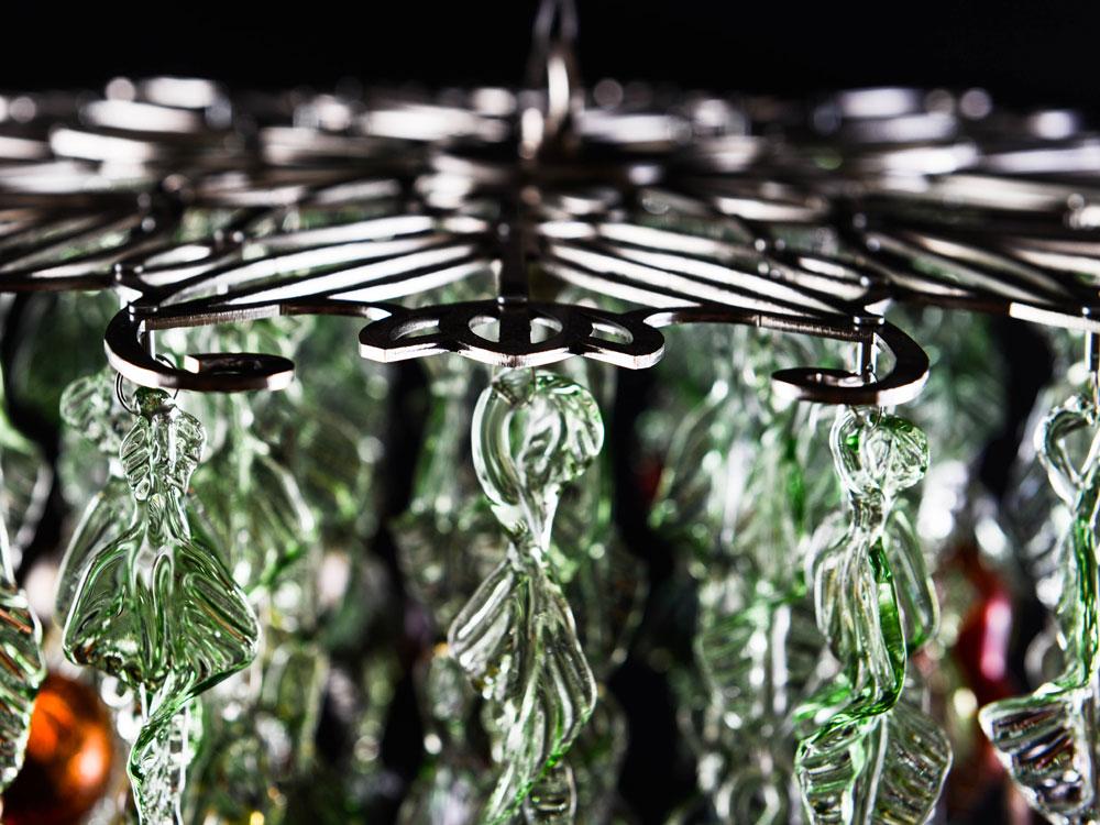 Glass chandelier - frame detail