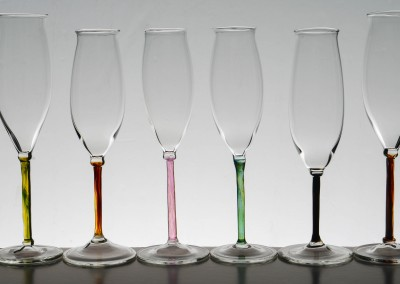 Champagne glasses – Lakeland colours