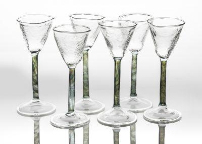 Fern and leaf Damson gin glass