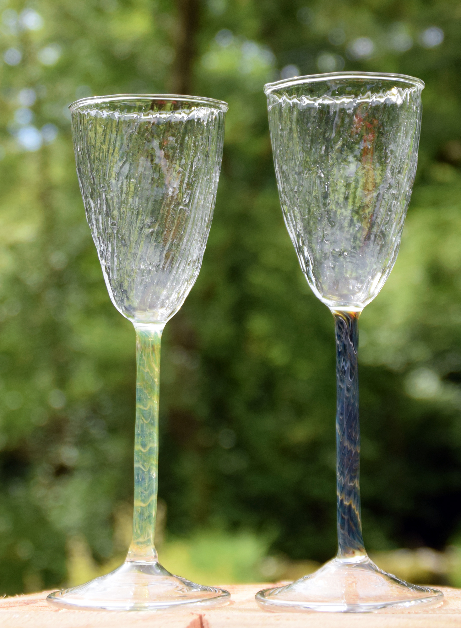 Textured prosecco glass