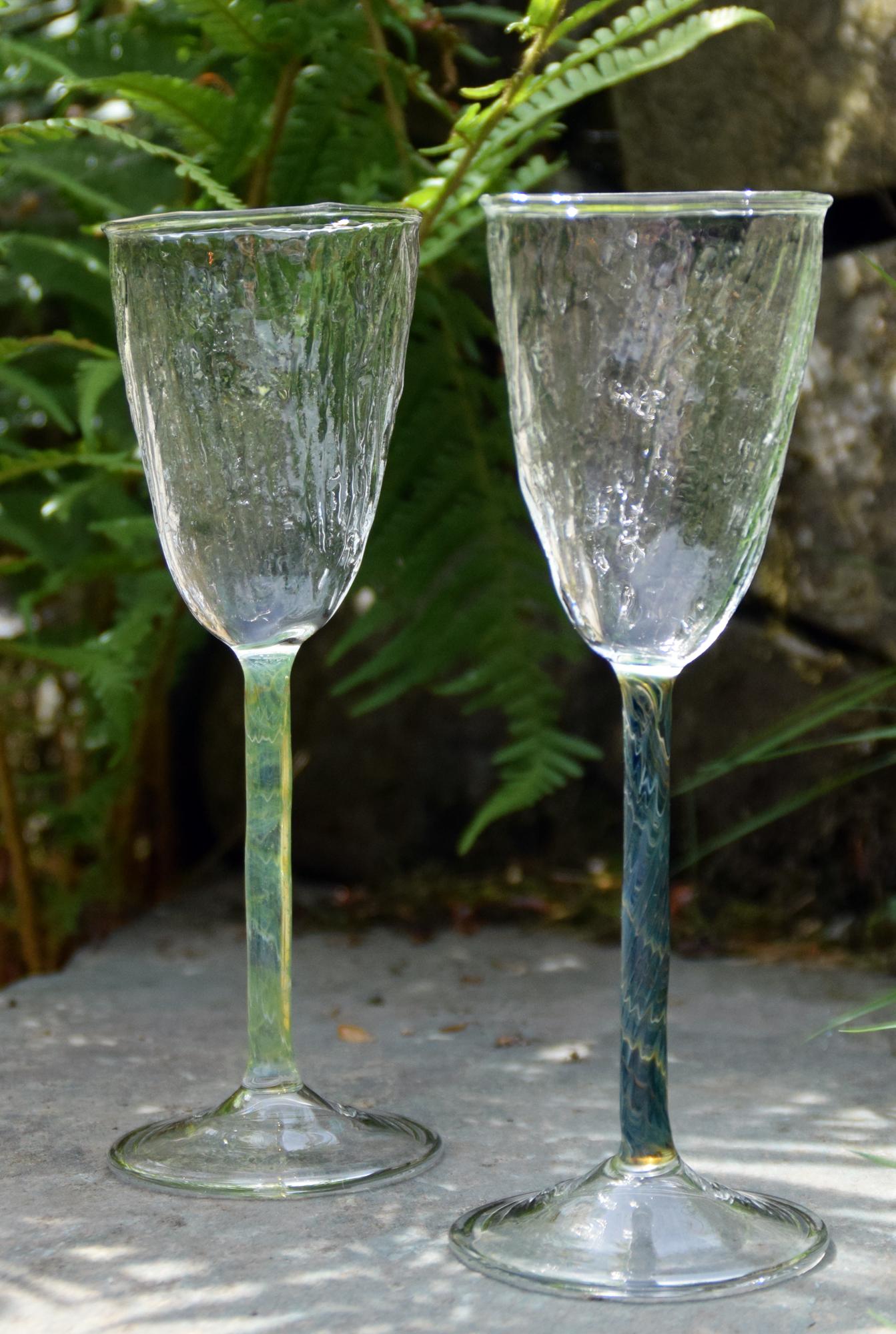 Ribwort platain prosecco glasses