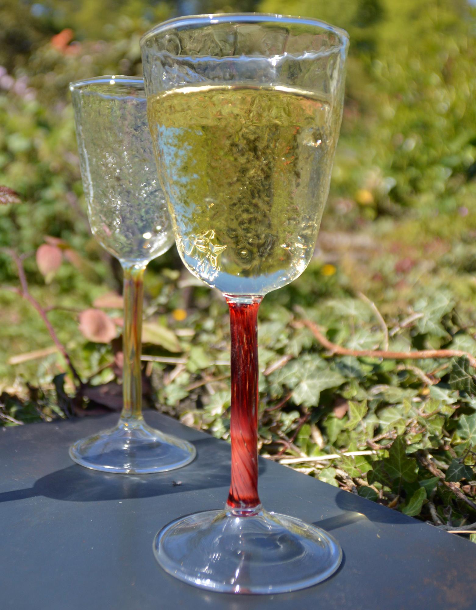 Moss wine glass