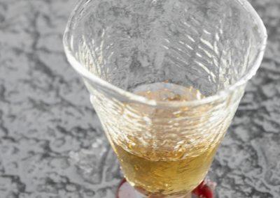 Fern texture schnapps glass